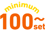 minimum 100 set